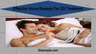 Effective Home Remedy For ED Treatment