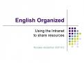 English Organized