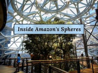 Amazon's glass Spheres open in Seattle