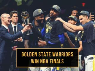 Golden State Warriors win NBA Finals