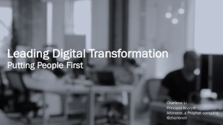 Leading Digital Transformation: Putting People First