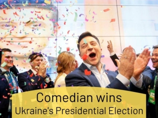 Comedian wins Ukraine's presidential election