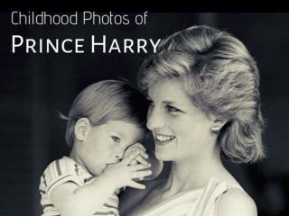 Childhood photos of Prince Harry