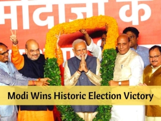 Modi wins historic election victory