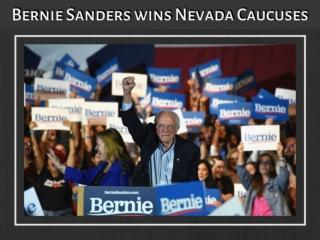 Bernie Sanders wins Nevada caucuses